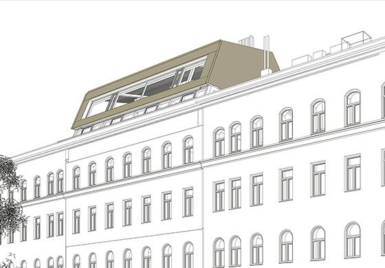 Bewilligungsplanung Dachgeschoss Wien